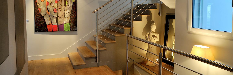 entrée décoration escalier architecte