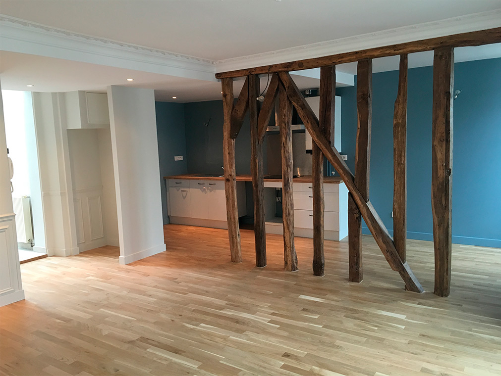 Rénovation appartement charme Chantilly cuisine