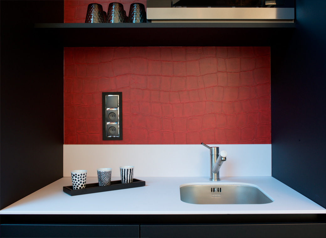 kitchenette design rénovation bureaux standing Chantilly