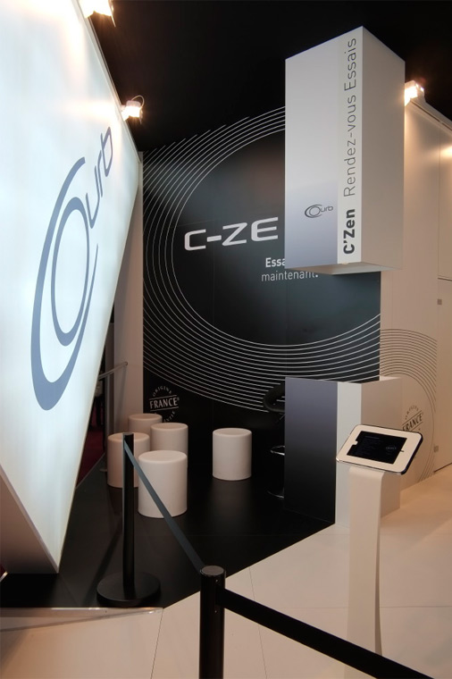 Installation Stand Courb salon professionnel mondial auto