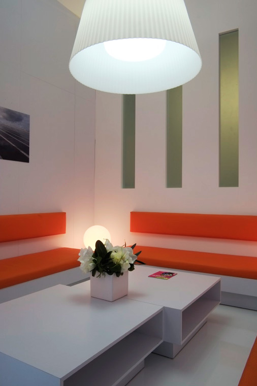 salle de réunion stand EDF salon professionnel mondial auto