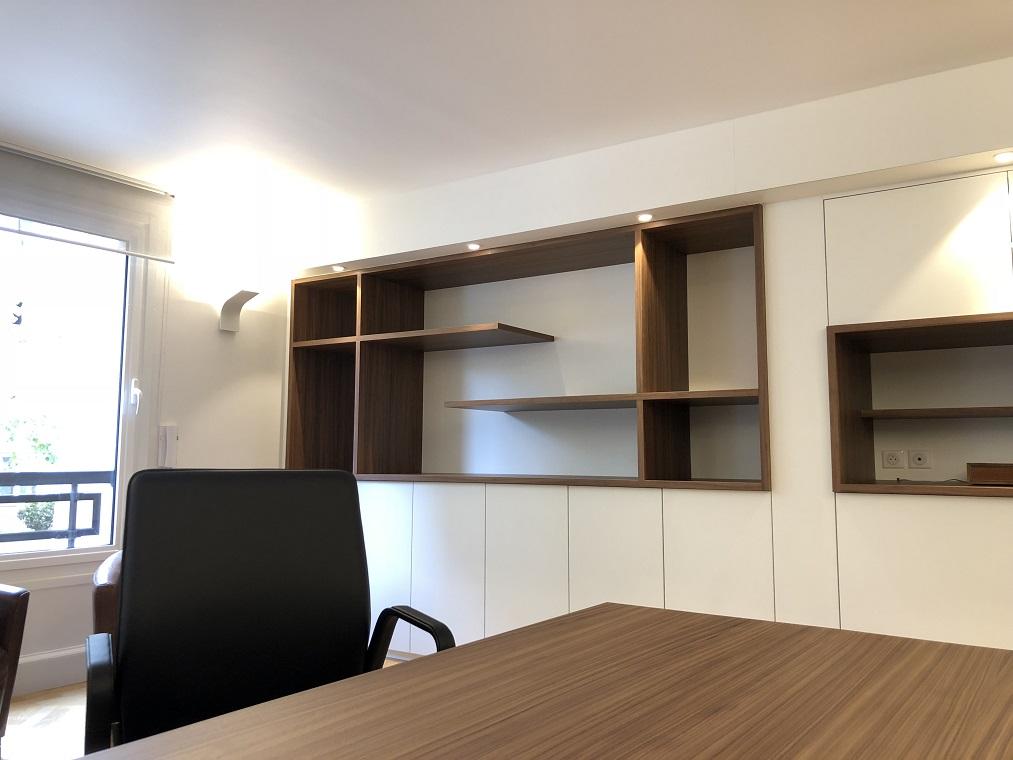 Rénovation bureau notaire meuble sur-mesure par Architecte d'Intérieur