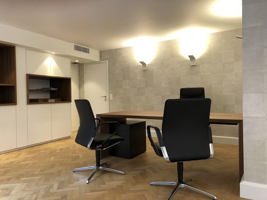 Rénovation bureau de notaire mobilier sur-mesure Architecte d'Intérieur